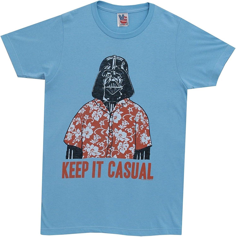 Star Wars Junk Food Keep It Casual Adult Sky Blue T-Shirt (Adult Small)