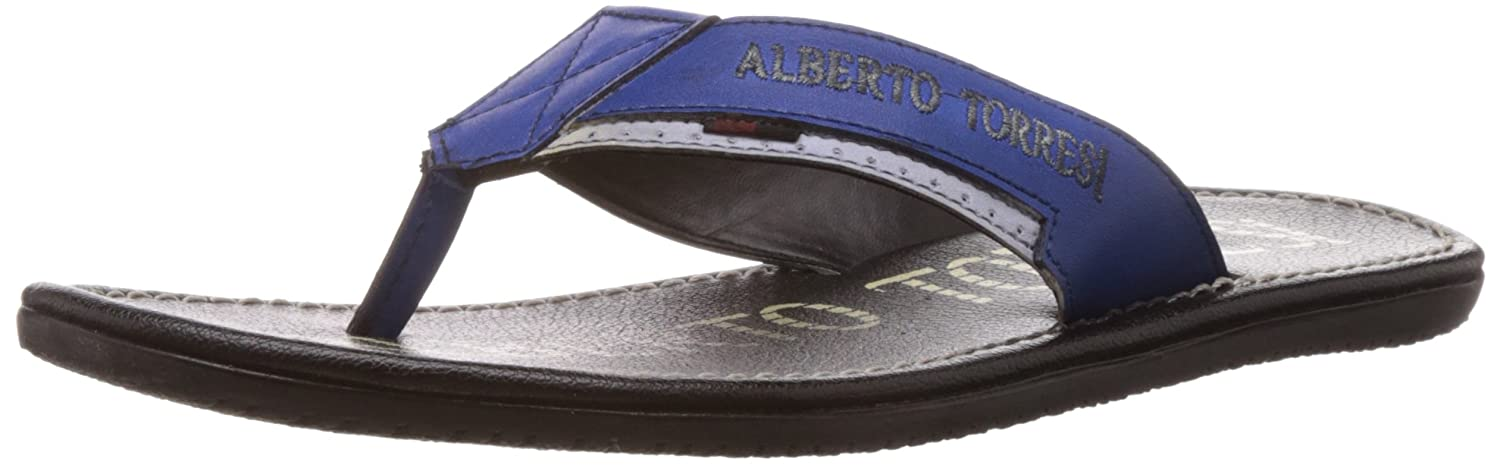 Alberto Torresi Blue+White flip flops for men