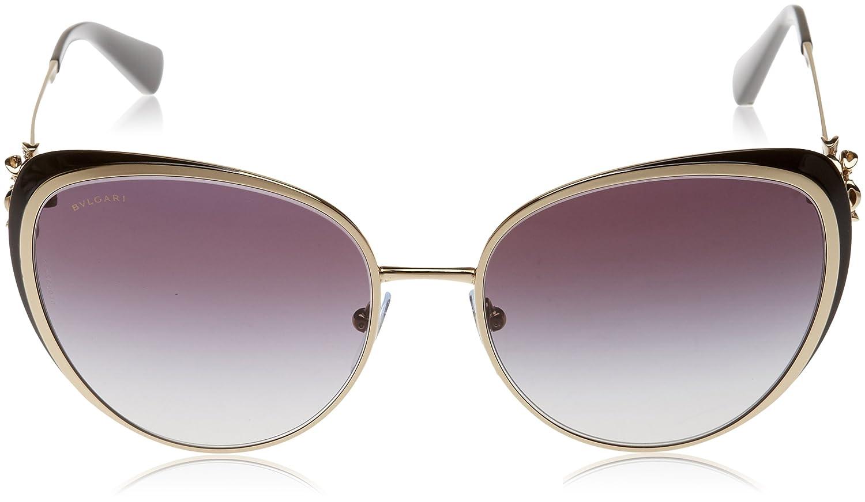 Ropa Gafas Gold modelo Bulgari de Pale sol negro Amazon 57 Women's es 0bv6092b 2788g zq4FUO8z