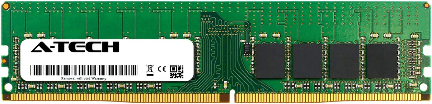A-Tech 16GB Module for Dell PowerEdge T130 - DDR4 PC4-19200 2400Mhz ECC Unbuffered UDIMM 2Rx8 - Server Specific Memory Ram (AT316653SRV-X1U3)