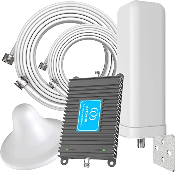 Cell Phone Signal Booster for AT/&T T-Mobile 4G LTE 700MHz Band 12//17 FDD Mobile Signal Repeater Amplifier Including Outdoor Directional Antenna and Indoor Omni-Ceiling Antenna Kits for Home Office