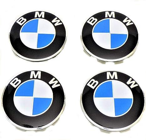 BMW Emblema - Juego de 4 tapacubos de repuesto para capucha, compatible con ruedas de