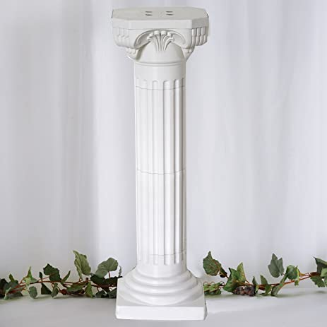Efavormart 4 Pillars/Set Roman Decorative Wedding Party Columns PVC Pillars  36u0026quot; Height (