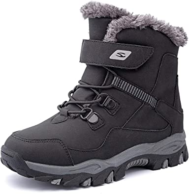 satisfied Kids Waterproof Winter Snow Boots Outdoor Warm Ankle Shoes
