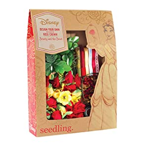Seedling Disney's Beauty and The Beast Design Your Own Enchanted Flower Rose Crown Activity Kit