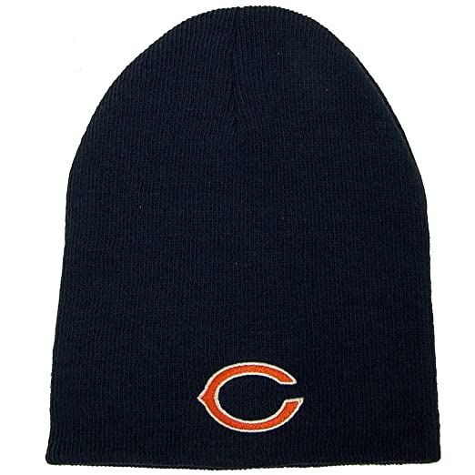 7eeda045a Amazon.com : Chicago Bears Official NFL One Size Knit Beanie Hat ...