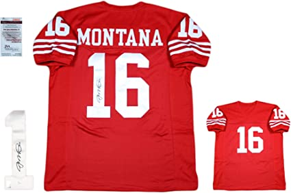 Joe Montana Signed Custom Jersey - JSA - Autographed - Pro Style - Red