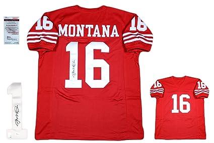 low priced d7718 54aa3 Joe Montana Signed Custom Jersey - JSA - Autographed - Pro ...