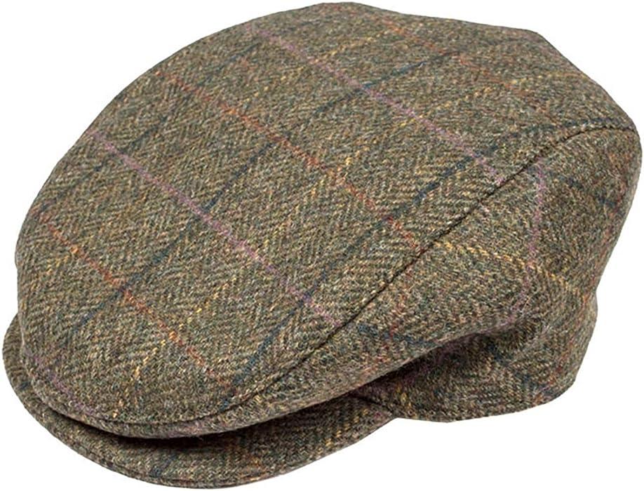 a6db99b56 Dents - Abraham Moon Yorkshire Tweed Flat Cap (Hunter, Large ...
