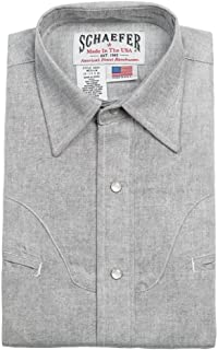 product image for Schaefer Outfitters Men's Graphite Vintage Chisholm Chambray Shirt - 6062-Ge