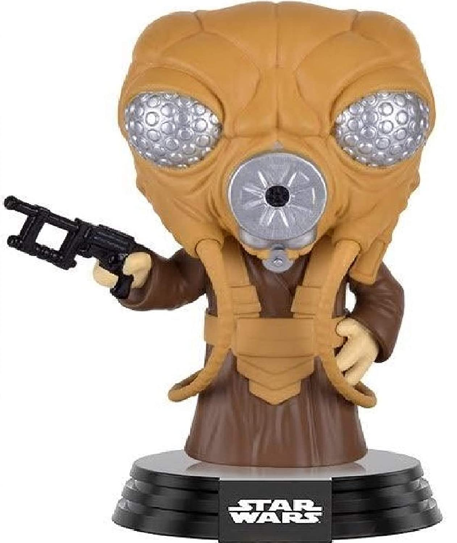 Funko Pop Star Wars: Empire Strikes Back Zuckuss Vinyl Bobble-Head Figure Bundled with Pop Box Protector Case