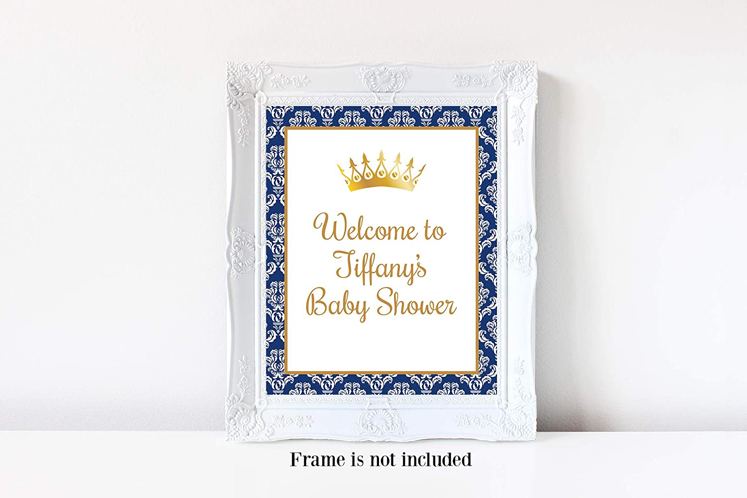 Amazon.com: Prince Baby Shower Welcome Sign, Royal Prince, Little Prince,  Boy Baby Shower, Prince Baby Shower, Baby Shower Decorations for Boy, ...