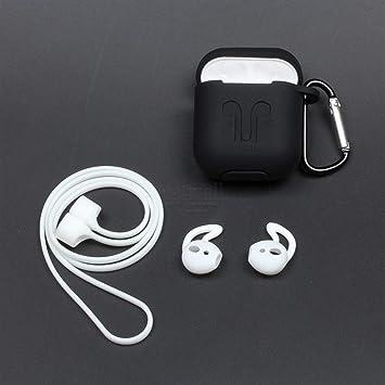 Juego de Accesorios para Airpods Filoto Airpods Funda de Silicona Llavero/Ganchos para los oídos/Accesorios Impermeables Caja de Viaje Apple Airpod.: Amazon.es: Electrónica