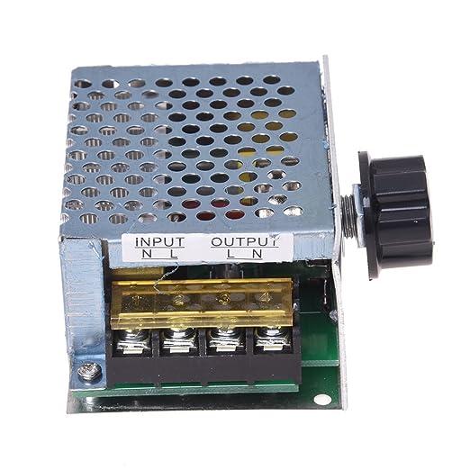 Sodial R 4000w Spannungsregler Dimmer Speed Temperatur Volt Regler Regulator High Power Gewerbe Industrie Wissenschaft