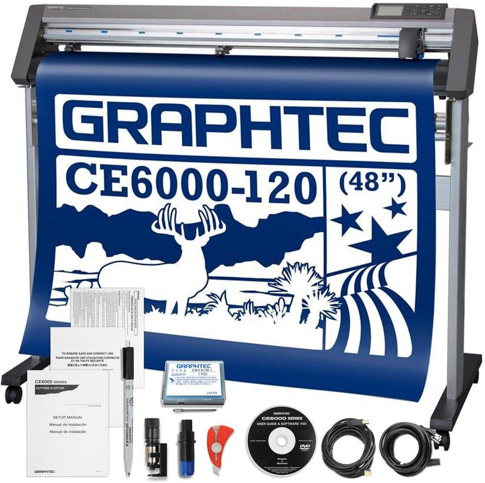 Graphtec Plus CE6000 – 120 – 48 Inch Profesional Cortador de Vinilo con Bono Dólares 2100 en Software y 2 Años De Garantía: Amazon.es: Electrónica