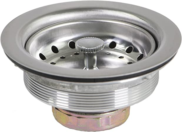 Everflow 7511 Kitchen Sink 3 1 2 Inch Stainless Steel Drain Assembly With Strainer Basket And Rubber Stopper