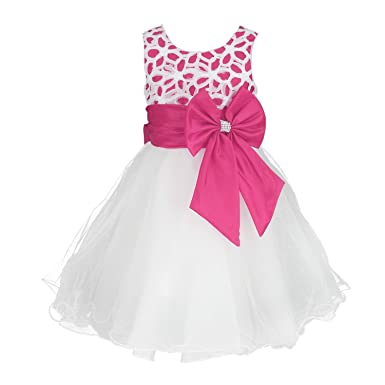 71gHmlPUVTL._UX385_ girls flower formal wedding bridesmaid party christening dress,Childrens Clothes Age 2