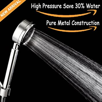 Handheld shower head, Pure Metal Hand Shower Head Extrem High ...