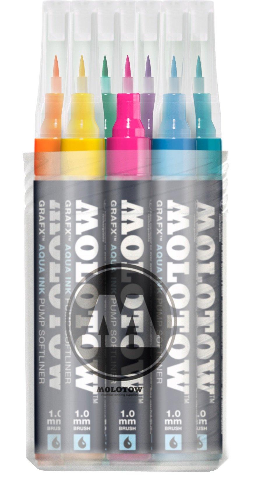 Molotow Aqua Ink Softliner Brush Pump Marker (12un.)