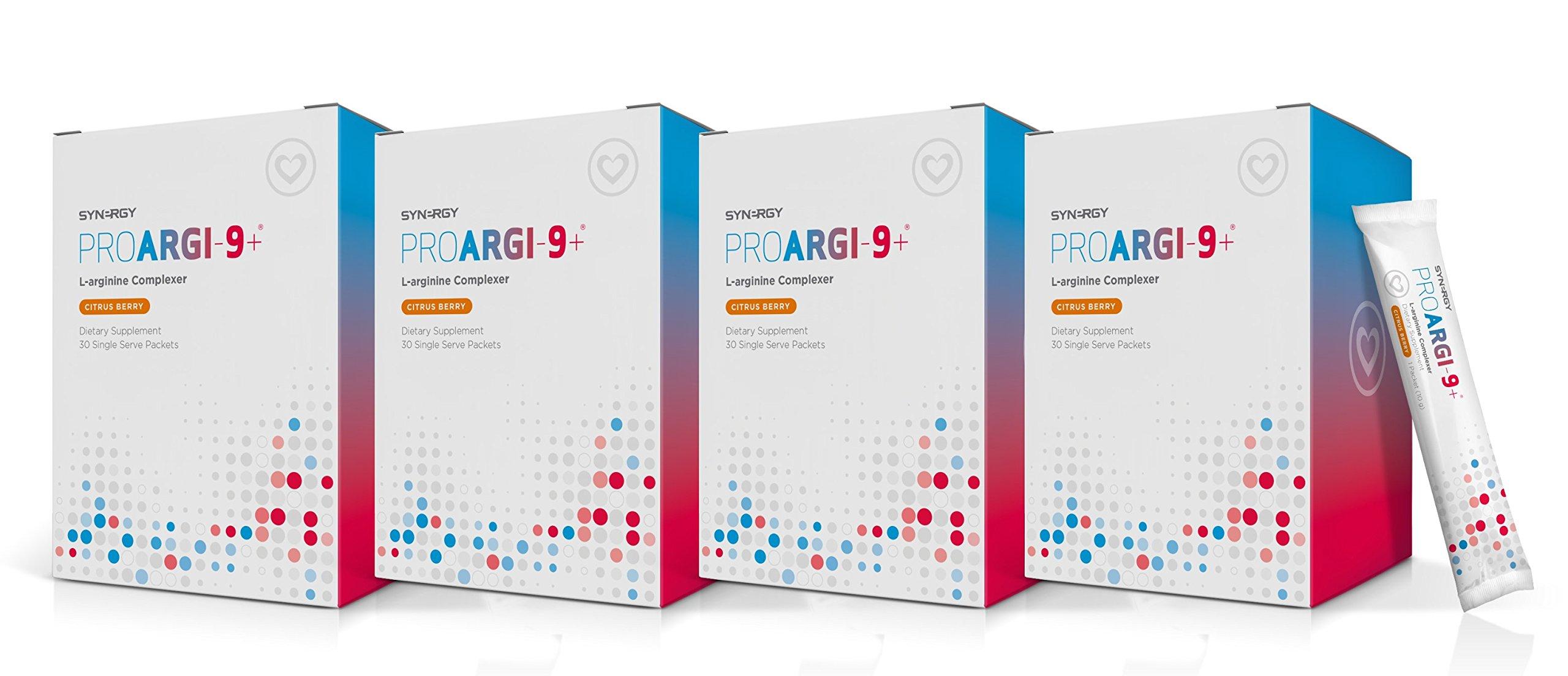 ProArgi 9 Plus Citrus Berry 30 Single Serve (4) Boxes Pack Support Heart Health (4)