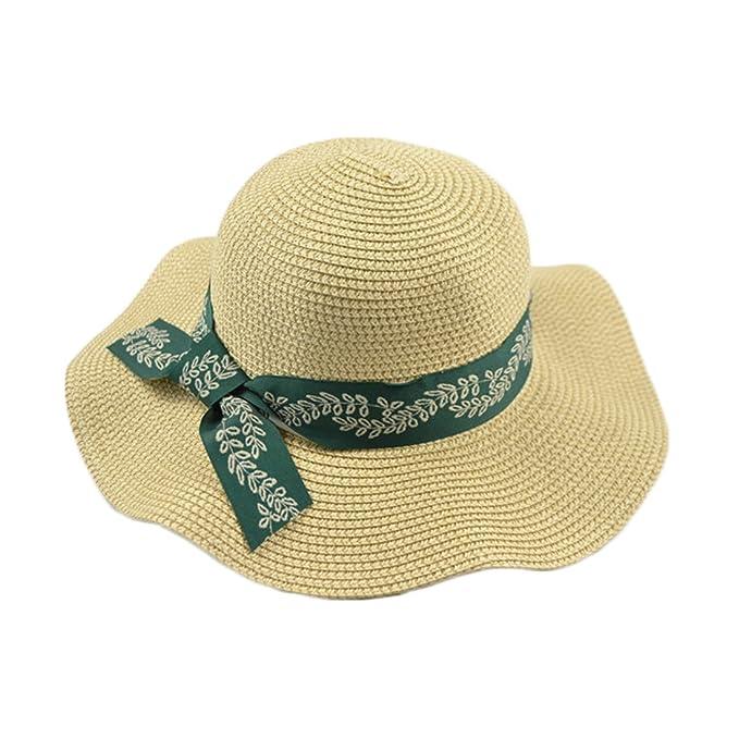 JDDRCASE Sombreros de Moda Gorras, Gorra para Mujer Sombrero Grande Shuck Sombrero de Viaje Playa