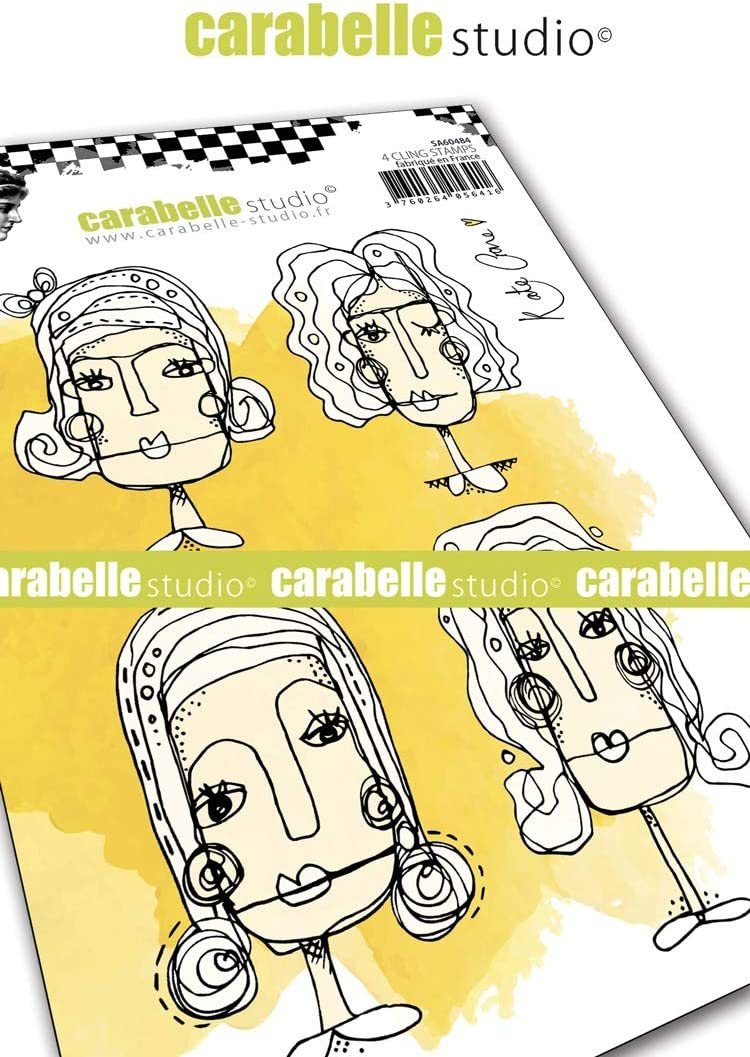 us:one size CARABELLE STUDIO CLING STAMP FACE IT