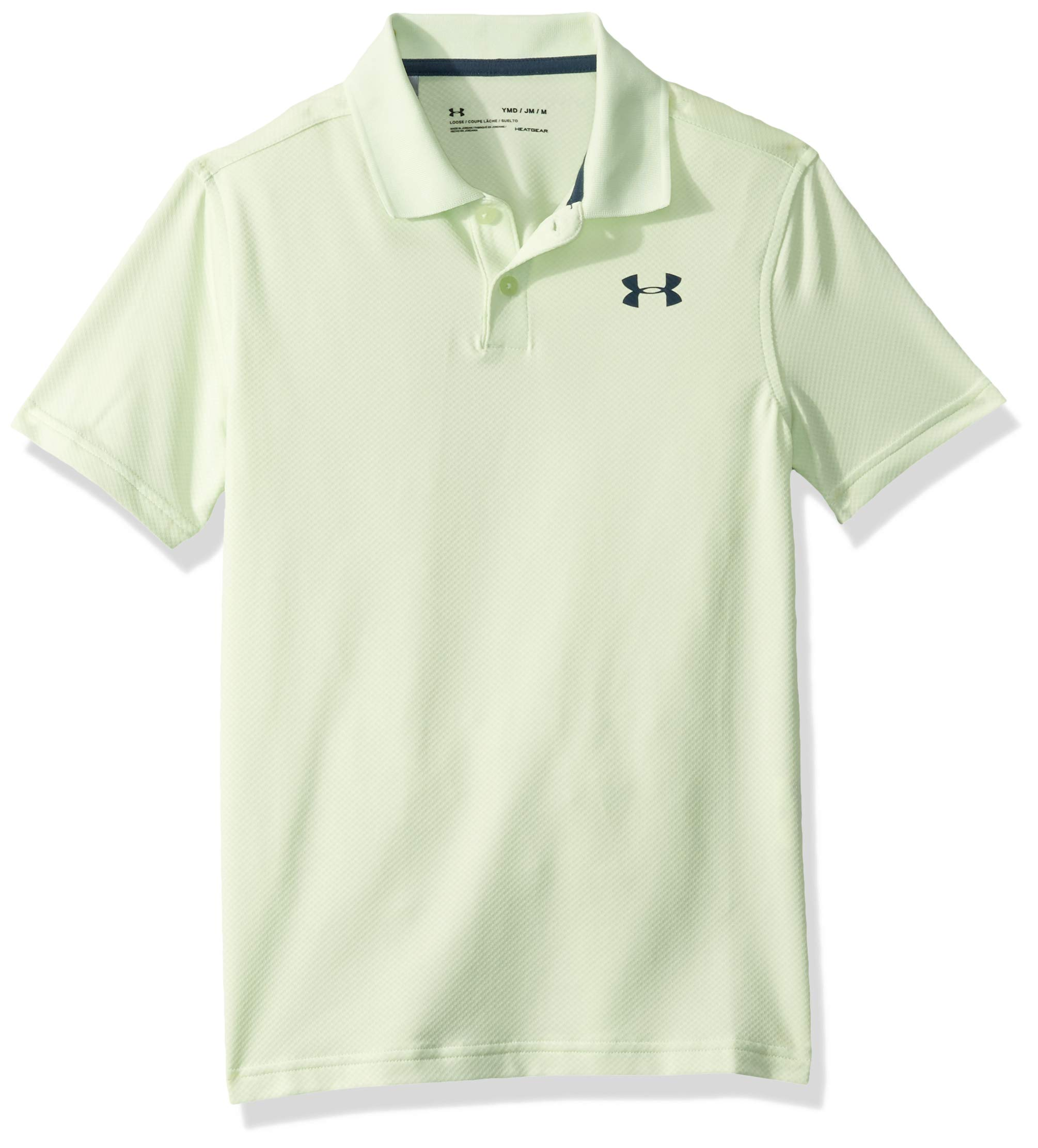 Under Armour boys Performance 2.0 Golf Polo, Phosphor Green (369)/Wire, Youth X-Small