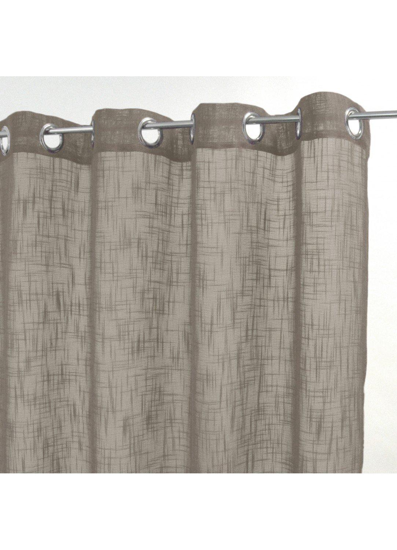 HomeMaison Voilage Uni en Etamine de Lin, Polyester, Anthracite, 250x140 cm HM69Lisboa