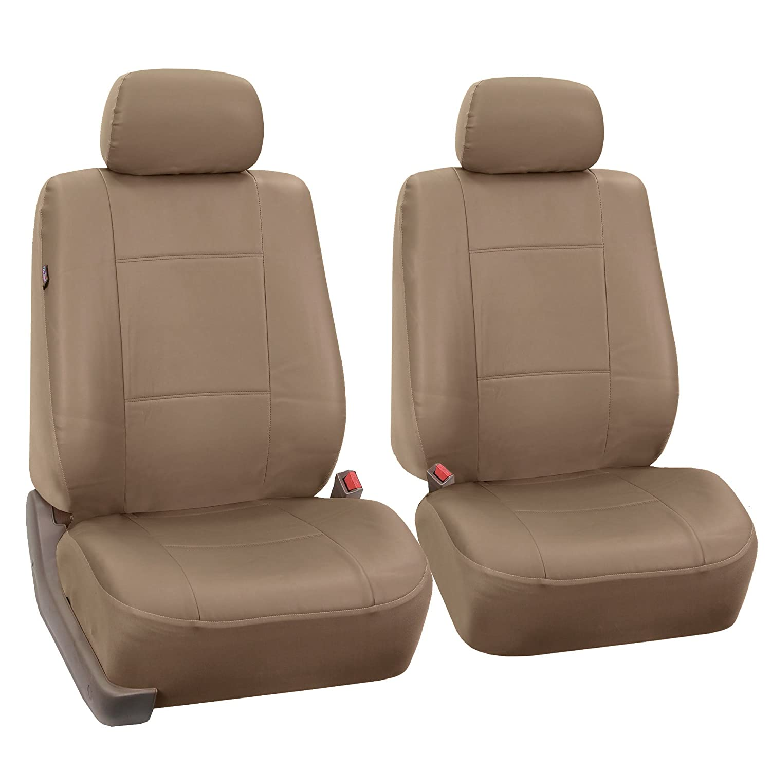 Airbag compatible and Split Bench Solid Black color FH-PU002-1115 Classic Exquisite Leather Car Seat Covers