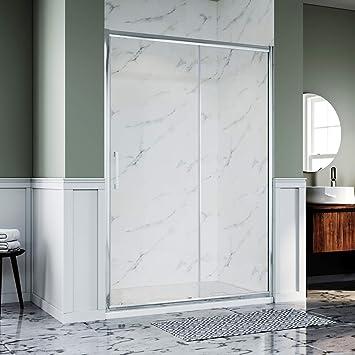Elegante puerta corredera de ducha con bandeja + panel lateral: Amazon.es: Bricolaje y herramientas