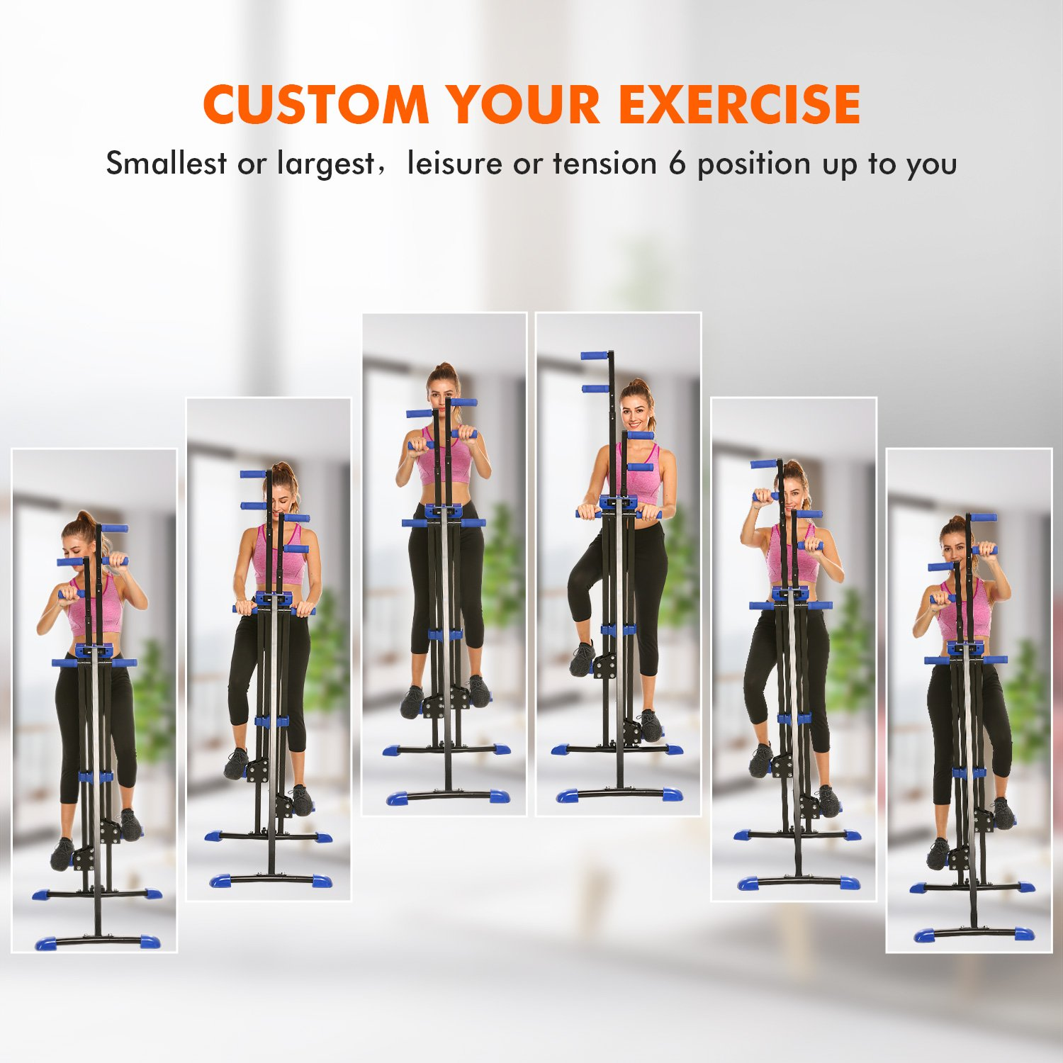 Dozenla Vertical Climber Stepper 2 In 1 Climbing Machine Exercise Fitness Foldable Stair Cardio Equipment [US Stock] by Dozenla (Image #7)
