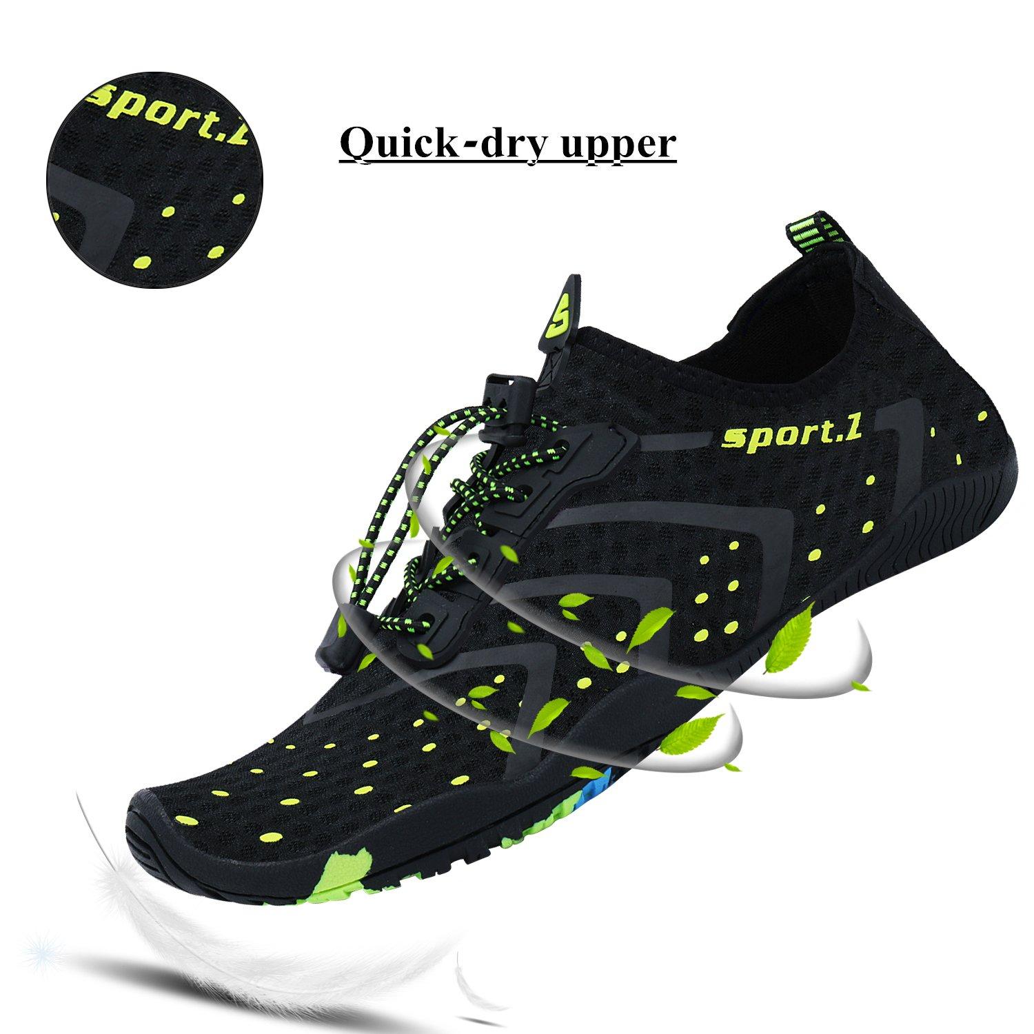 WXDZ Athletic Aqua Sock Water Shoes for Water Sport Beach Pool Boat Surfing Diving by WXDZ (Image #2)
