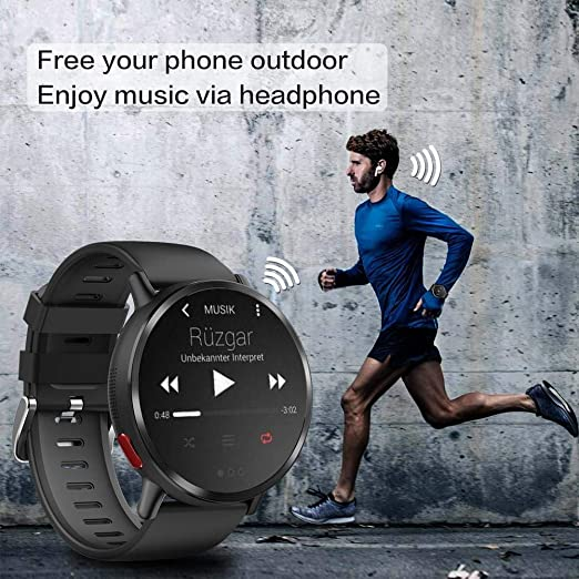 Amazon.com: Lamptti Android 7.1 4G 2.03 Inch 900Mah 8MP Camera Ip67 Black Round Waterproof Sport Smart Watch with Bluetooth GPS Smartwatch Suitable for Men: ...