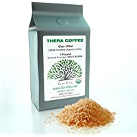 The Real Deal ENEMA Coffee BEST Coffee For Enema - 1lb Bag - 100% Organic Green Beans Finely Ground - *FREE* Detox Recipe - Gerson Approve