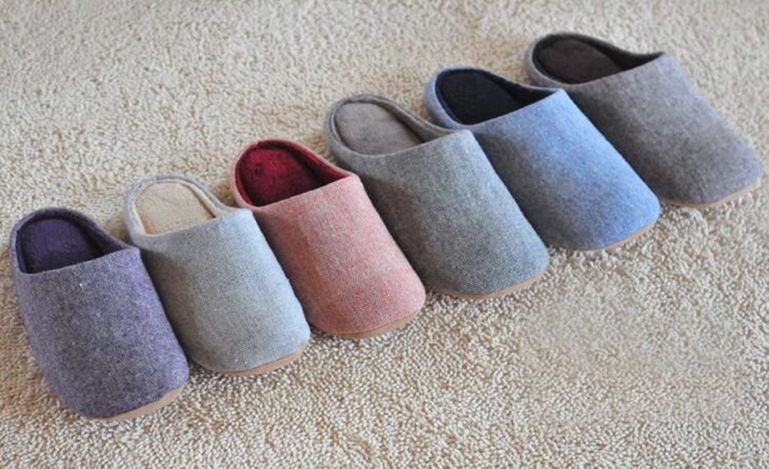 Bronze Times(TM) House Slippers,Womens Coral Fleece Memmory Foam Indoor Footwear,grey,M by Bronze Times (Image #6)