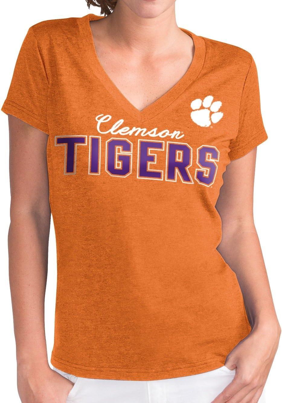 G-III 4her by Carl Banks Clemson Tigers Women's Orange Home Run V-Neck T-Shirt