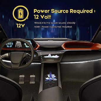 Pryeu striscia LED 12/V rosso//verde//blu//bianco 30/cm 30/cm 18/x 3528/SMD impermeabile per moto auto camion barche esterna illuminazione interna confezione da 4 White