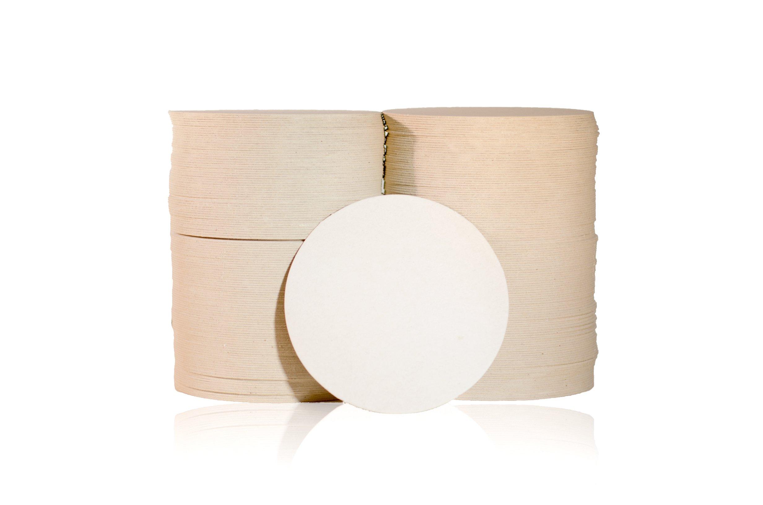 Katz Americas 3.5'' Round Lightweight (35pt) Blank Pulpboard Coaster (Case of 1,000)