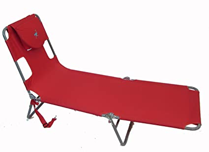 Amazon.com: Ostrich Chaise Lounge, Red (Renewed): Kitchen ...