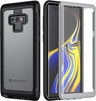seacosmo Coque Samsung Note 9, Transparente Integrale Antichoc Étui avec Protège-écran Intégré [Résistant aux Rayures] Fine Double Couche ...