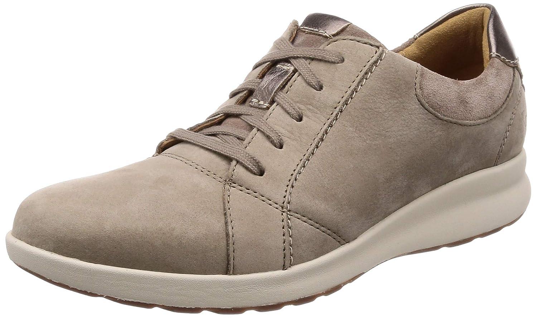 Beige (Pebble Pebble) Clarks Un Adorn Lace, zapatos de Cordones Derby para mujer