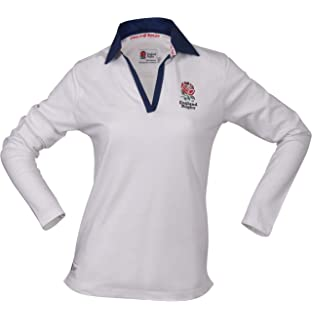 06b63257 Printmeashirt Women's Classic Embroidered England Rose Crest Long ...