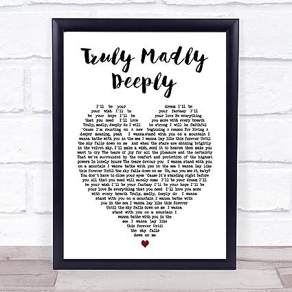 Amazon.com: CEDBUYOO Truly Madly Deeply Savage Garden Heart ...