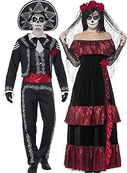 Vestido de Halloween, disfraz de calavera de azúcar para mujer ...