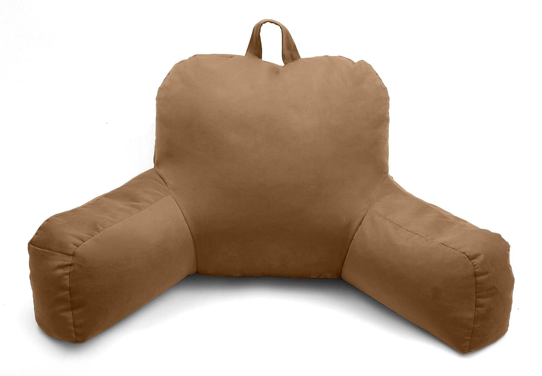 Porter Bedrest, Brushed Porter Bedrest, Micro Suede Bed Rest Lounger-Tan Living Healthy Products BENRE-002-02