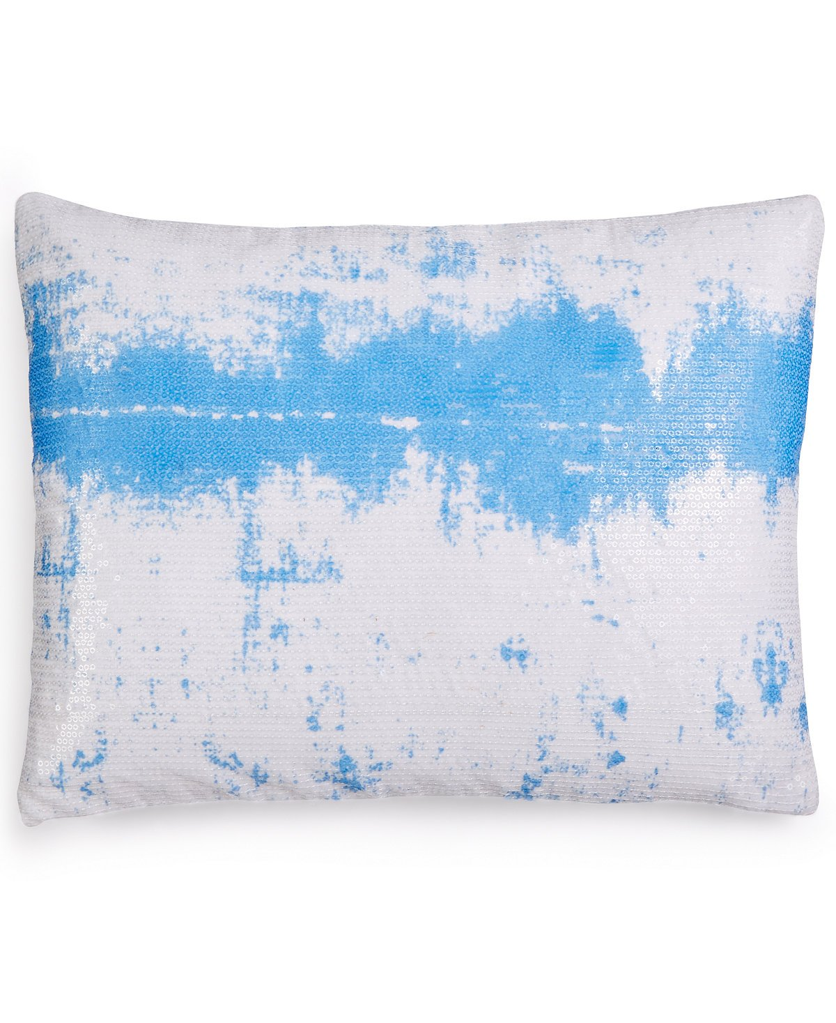 Calvin Klein Home City Plaid Sequin Ombre, 12x16 Dec Pillow, Sky