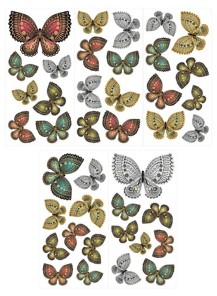 I-love-Wandtattoo WAS-10038 Wall stickers Kids Noble butterflies with patterns Sticker Wall Decal 40 piece