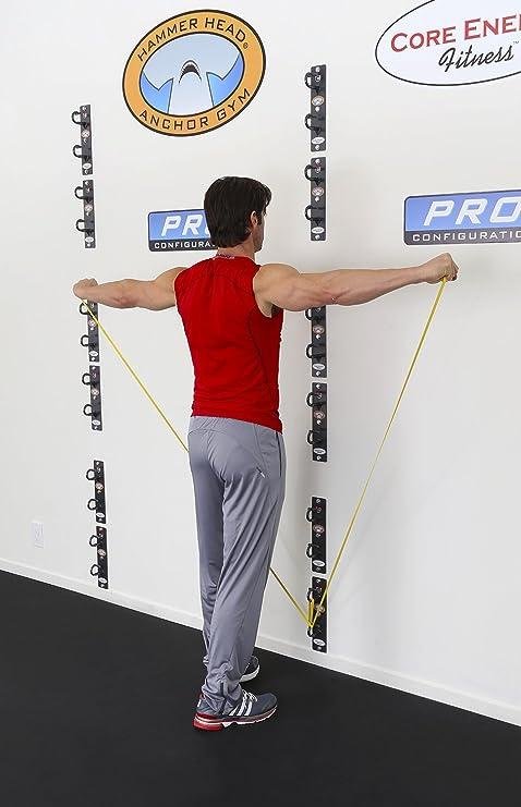 Core Energy Fitness Anchor gym- Pro estación (6 montado en la pared anclajes)