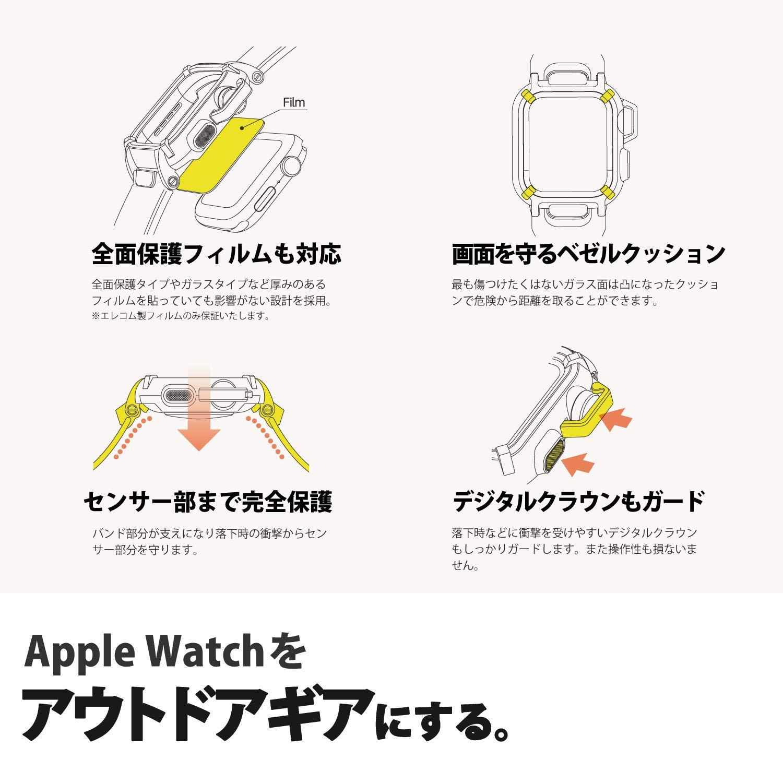 148d4c7930 Amazon   エレコム Apple Watch バンドケース 40mm NESTOUT オレンジ AW-40BCNESTDR   スマートウォッチアクセサリ  通販