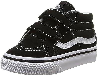 f635536e04 Vans Toddler Sk8-Mid Reissue V Black True White Skate Shoe 9.5 Infants US